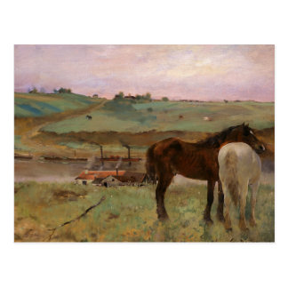 Edgar Degas - Horses in a Meadow Postcard