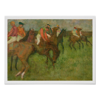 Edgar Degas | Jockeys, 1886-90 Poster