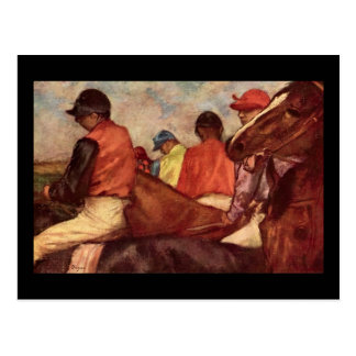 Edgar Degas Jockeys Postcard