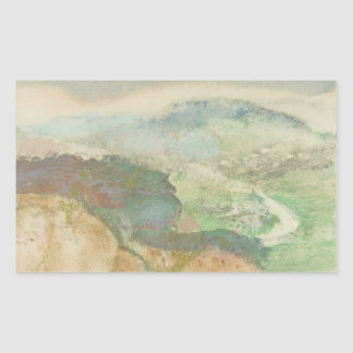 Edgar Degas - Landscape Rectangular Sticker