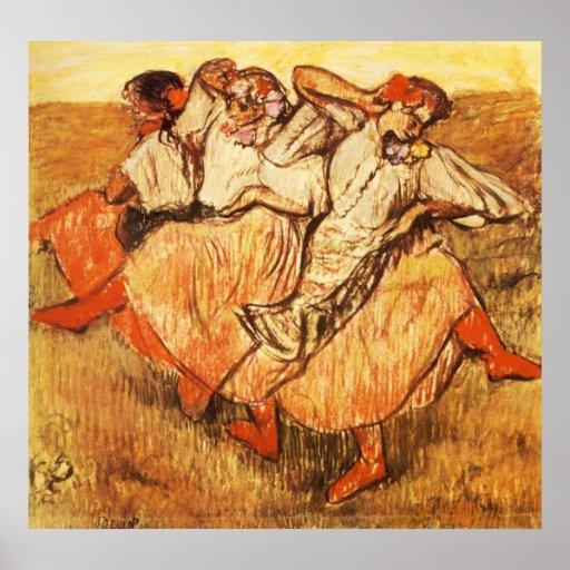 Edgar Degas Les Trois danseuses russes Print