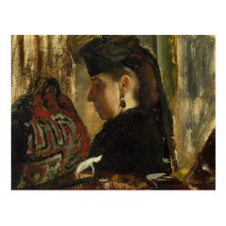 Edgar Degas - Mademoiselle Marie Dihau (1843–1935) Postcard