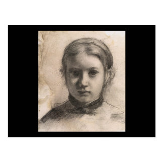 Edgar Degas Portrait of Giovannina Bellelli Postcard