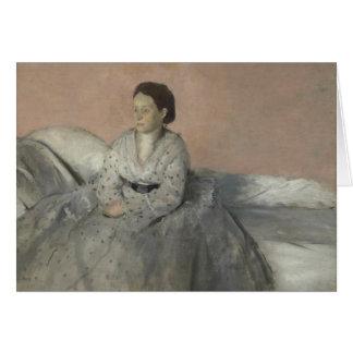 Edgar Degas - Portrait of Madame Rene de Gas Card