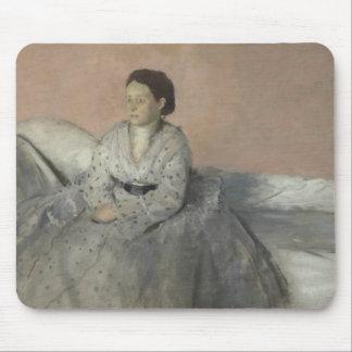 Edgar Degas - Portrait of Madame Rene de Gas Mouse Pad