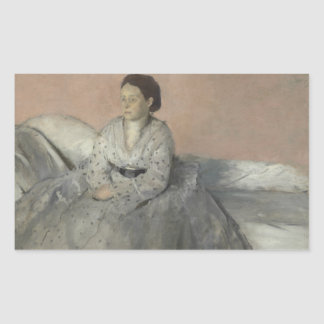 Edgar Degas - Portrait of Madame Rene de Gas Rectangular Sticker