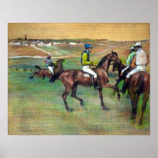 Edgar Degas Race Horses Poster