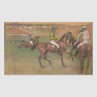 Edgar Degas - Race Horses Rectangular Sticker