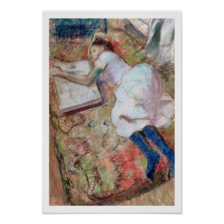 Edgar Degas | Reader Lying Down, c.1889 Poster