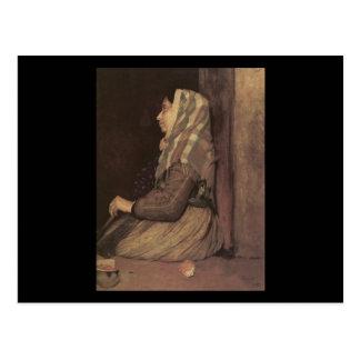 Edgar Degas Roman Beggar Woman Postcard