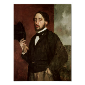 Edgar Degas | Self portrait, c.1862 Poster