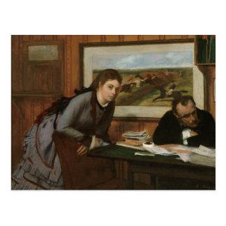 Edgar Degas - Sulking Postcard