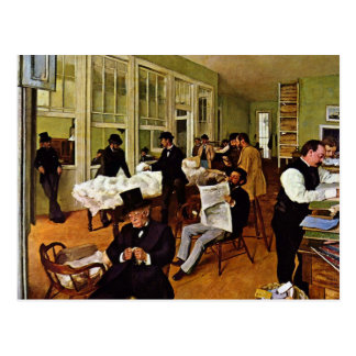 Edgar Degas - The cotton exchange Postcards