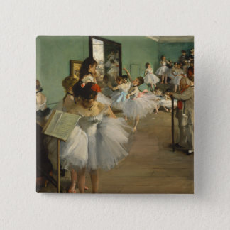 Edgar Degas-The dance class 1874 15 Cm Square Badge