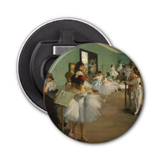 Edgar Degas-The dance class 1874 Bottle Opener
