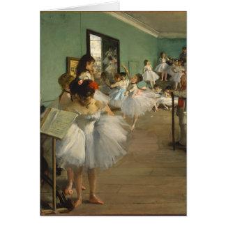 Edgar Degas-The dance class 1874 Card
