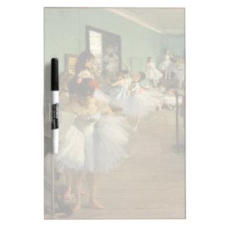Edgar Degas-The dance class 1874 Dry Erase Board
