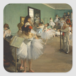 Edgar Degas-The dance class 1874 Square Sticker