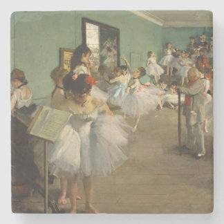 Edgar Degas-The dance class 1874 Stone Coaster