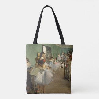 Edgar Degas-The dance class 1874 Tote Bag