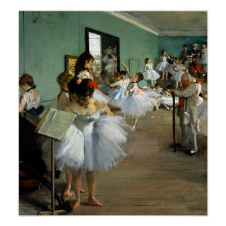 Edgar Degas The Dance Class Poster