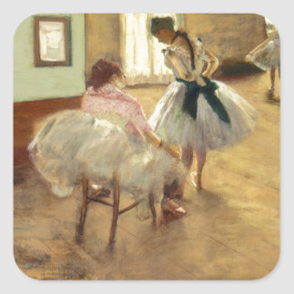 Edgar Degas The Dance Lesson Square Sticker