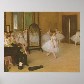 Edgar Degas The Dancing Class Poster