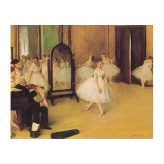 Edgar Degas | The Dancing Class Wood Wall Art