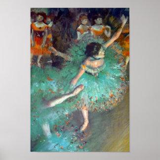 Edgar Degas - The Green Dancers - Ballet Dance Poster