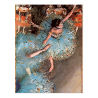 Edgar Degas - The Greens dancers Postcard