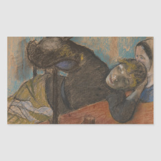 Edgar Degas - The Milliner Rectangular Sticker