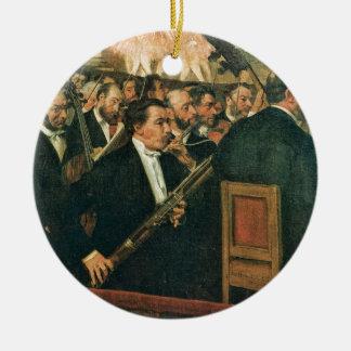 Edgar Degas The Orchestra of the Opera Ceramic Ornament