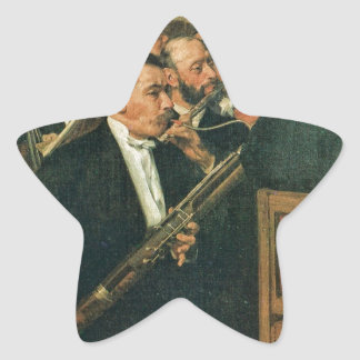Edgar Degas The Orchestra of the Opera Star Sticker