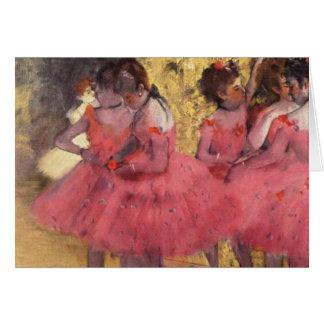 Edgar Degas The Pink Dancers Card