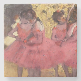 Edgar Degas The Pink Dancers Coaster