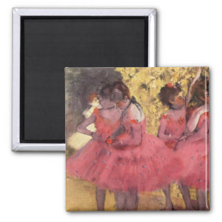 Edgar Degas The Pink Dancers Magnet