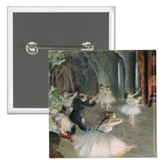 Edgar Degas   The Rehearsal of the Ballet on Stage 15 Cm Square Badge