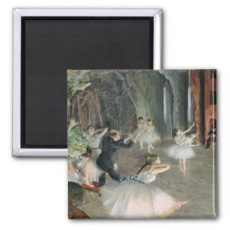 Edgar Degas | The Rehearsal of the Ballet on Stage Magnet