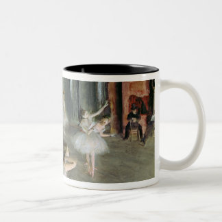 Edgar Degas | The Rehearsal of the Ballet on Stage Two-Tone Coffee Mug
