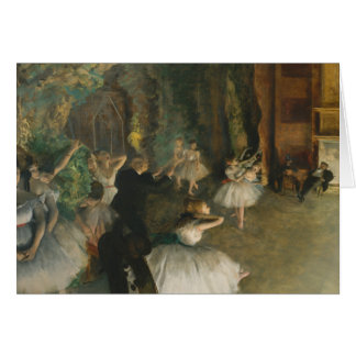 Edgar Degas - The Rehearsal of the Ballet Onstage Card