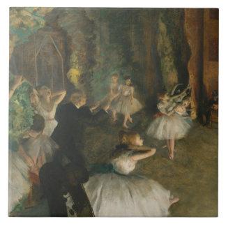 Edgar Degas - The Rehearsal of the Ballet Onstage Ceramic Tile