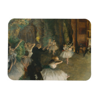 Edgar Degas - The Rehearsal of the Ballet Onstage Magnet