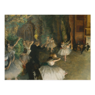 Edgar Degas - The Rehearsal of the Ballet Onstage Postcard