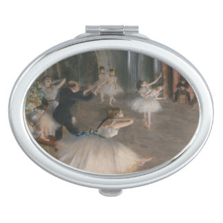Edgar Degas The Rehearsal on Stage Compact Mirror