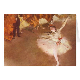 Edgar Degas The Star Greeting Card