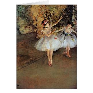Edgar Degas - Two Dancers Card