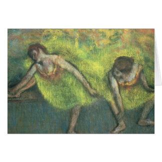 Edgar Degas   Two dancers relaxing Card