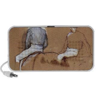 Edgar Degas - Two jockeys Notebook Speakers