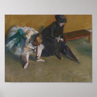 Edgar Degas - Waiting Poster