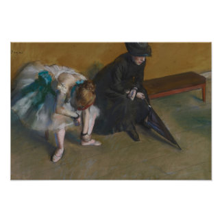 Edgar Degas - Waiting Poster